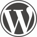 wordpress-logo on white