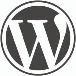 wordpress-logo on white