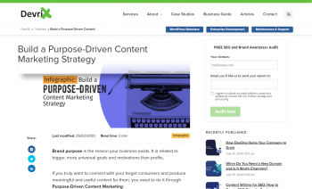 Build a Purpose-Driven Content Marketing Strategy