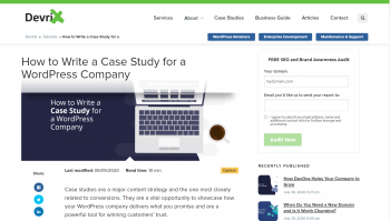 How to Write a Case Study for a WordPress Company