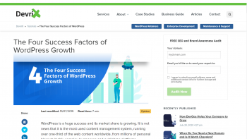 The Four Success Factors of WordPress Growth