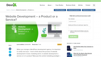 Website Development – a Product or a Service